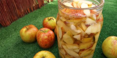 Domowy ocet jabłkowy - dzień pierwszy